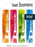 Eiffel Tower Bookmarks Watermarked