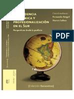 Independencia Academica y Profesionalizacion en El Sur