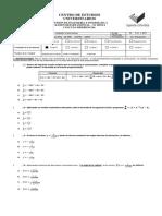 1er. Eexamen Parcial de Cálculo Diferencial