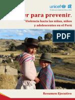 Entender Para Prevenir Violencia Hacia Ninos Ninas y Adolescentes en El Peru Resumen Ejecutivo (1)