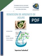 Remosion de Arsenico