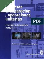 Procesos de Separación y Operaciones Unitarias Tomo II - Guillermo Correa