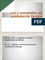 Uso y conversión de unidades de tiempo (2)