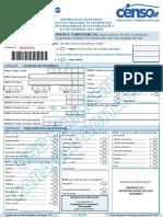 Boleta Censo Xii Poblacion Vii Vivienda Capacitacion