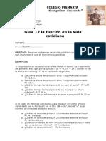 Guia 12 Problemas Con Funcion Cuadratica
