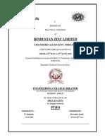 Training Report- HZL, CSZL.