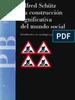 La Construcción Significativa Del Mundo Social