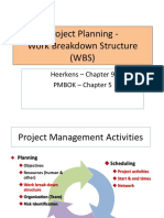 Project Planning WBS