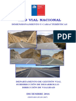 RED VIAL NACIONAL Dimensionamiento y Caracteristicas