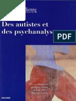 La Cause Freudienne 78 - Des Autistes Et Des Psychanalystes
