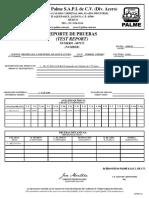 Certificado Hot-Rolled 4140