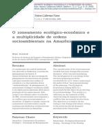 ACSELRAD, H (2000). O Zoneamento Ecológico-econômico e a Multiplicidade de Ordens Socioambientais Na Amazônia.