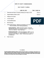 Agenda for June 26th Gulf County Commission meeting