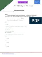 Statistics Homework for Matlab 1