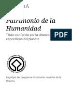 Patrimonio de La Humanidad - Wikipedia, La Enciclopedia Libre