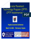 Cptp Concrete Pavement