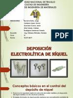 Deposición Electrolítica de Níquel