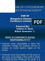 Corporate Social Responsibility of Manglore Chemical and Fertilizers