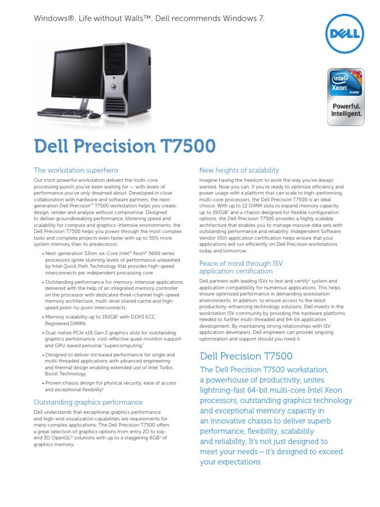 Dell Precision T7500 Spec Sheet En   Advanced Micro Devices   64 Bit  Computing