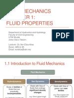 Fluid Mechanics Chapter 1 Dr.eliza Sem120172018