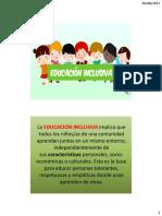Caracteristicas Educacion Inclusiva -