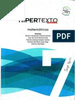 HIPERTEXTO MATEMATICAS 7