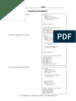 A+ Inheritance Worksheets