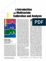 Analytical Chemistry Volume 59 Issue 17 1987 [Doi 10.1021_ac00144a725] Beebe, Kenneth R.; Kowalski, Bruce R. -- An Introduction to Multivariate Calibration and Analysis