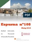 Butlletí Informatiu de prevenció d'incendis forestals Espurna Maig 2018