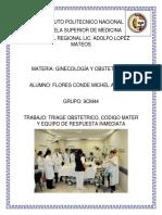 Triage Obstetrico, Codigo Mater y ERIO