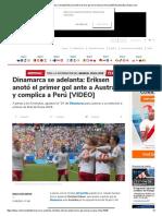 Dinamarca vs. Australia_ Christian Eriksen Anotó El Primer Gol en El Samara Arena [VIDEO] _ Mundial _ Depor