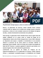 02-07-2017 Realiza Héctor Astudillo Gira de Trabajo en Iguala y Huitzuco.