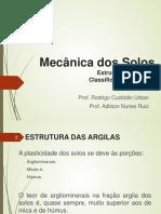 Estrutura das argilas e Classificação