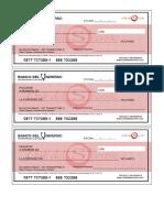 formato del cheque