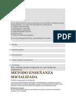 MÉTODO SOCIALIZADO