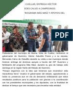 23-07-2017 En Buena Vista de Cuellar, Entrega Héctor Astudillo y Mercedes Calvo a Campesinos Fertilizante Del Programa Más Maíz y Apoyos Del DIF Guerrero.