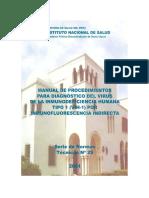 Manual de Procedimientos Para Diagnóstico de VIH