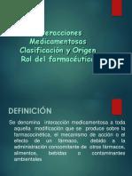 Interacciones Medicamentosas-clasificación y Origen (10!12!16)