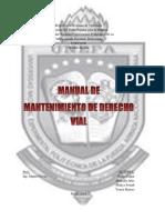 Manual de Mantenimiento Del Derecho Vial