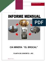 Informe Planta Concreto Abril 2018