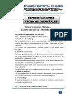 1.0 Especificaciones Tecnicas - Generales