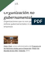 Organización No Gubernamental - Wikipedia, La Enciclopedia Libre