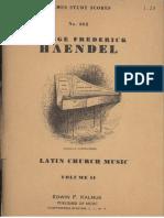13086989 Latin Church Music Vol II Georg Friedrich Haendel