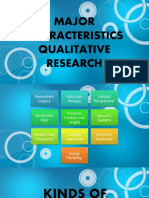Kinds of Qualitative Research