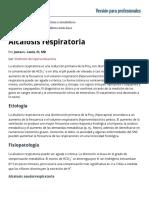 Alcalosis Respiratoria - Trastornos Endocrinos y Metabólicos - Manual MSD Versión Para Profesionales
