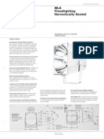 Westinghouse Lighting MLS Series Hermetically Sealed Floodlight Spec Sheet 6-79