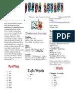 First Grade Newsletter - Willis