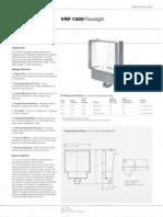 Westinghouse Lighting VRF 1000 Series Floodlight Spec Sheet 6-82