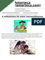 5 Reflexiones de Amor Extraordinarias