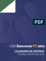COMPLETO Calendario Liga Mx Torneo Apertura 2018
